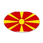 Macedonia 38.5 x 24.5 Oval Wall Peel