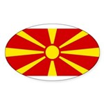 Macedonia Sticker (Oval 10 pk)