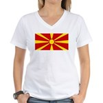 Macedonia Women's V-Neck T-Shirt