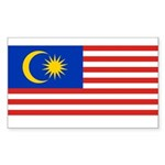 Malaysia Sticker (Rectangle 50 pk)