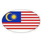Malaysia Sticker (Oval 50 pk)
