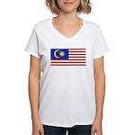 Malaysia Women's V-Neck T-Shirt