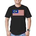 Malaysia Men's Fitted T-Shirt (dark)