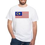 Malaysia White T-Shirt