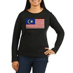 Malaysia Women's Long Sleeve Dark T-Shirt