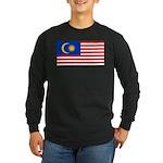 Malaysia Long Sleeve Dark T-Shirt