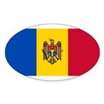 Moldova Sticker (Oval 50 pk)