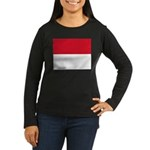 Monaco Women's Long Sleeve Dark T-Shirt