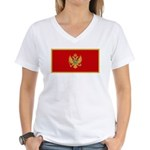Montenegro Women's V-Neck T-Shirt