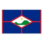 Sint Eustatius Sticker (Rectangle 10 pk)