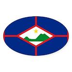 Sint Eustatius Sticker (Oval 50 pk)