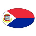 Sint Maarten Sticker (Oval 50 pk)