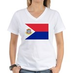 Sint Maarten Women's V-Neck T-Shirt