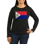 Sint Maarten Women's Long Sleeve Dark T-Shirt
