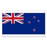 New Zealand Sticker (Rectangle 10 pk)