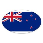New Zealand Sticker (Oval 10 pk)