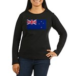New Zealand Women's Long Sleeve Dark T-Shirt