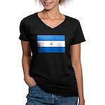 Nicaragua Women's V-Neck Dark T-Shirt