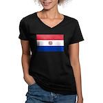 Paraguay Women's V-Neck Dark T-Shirt