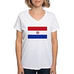 Paraguay Women's V-Neck T-Shirt