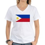 Philippines Women's V-Neck T-Shirt