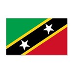 Saint Kitts and Nevis 22x14 Wall Peel