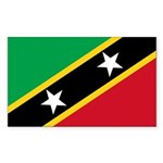 Saint Kitts and Nevis Sticker (Rectangle 50 pk)
