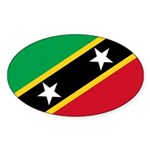Saint Kitts and Nevis Sticker (Oval 10 pk)