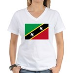 Saint Kitts and Nevis Women's V-Neck T-Shirt