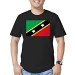 Saint Kitts and Nevis Men's Fitted T-Shirt (dark)