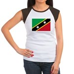 Saint Kitts and Nevis Women's Cap Sleeve T-Shirt