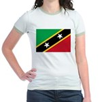 Saint Kitts and Nevis Jr. Ringer T-Shirt