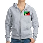 Saint Kitts and Nevis Women's Zip Hoodie