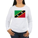 Saint Kitts and Nevis Women's Long Sleeve T-Shirt