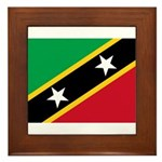 Saint Kitts and Nevis Framed Tile