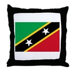 Saint Kitts and Nevis Throw Pillow