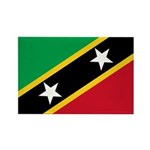 Saint Kitts and Nevis Rectangle Magnet (10 pack)