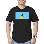 Saint Lucia Men's Fitted T-Shirt (dark)