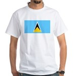 Saint Lucia White T-Shirt