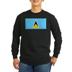 Saint Lucia Long Sleeve Dark T-Shirt