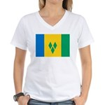 Saint Vincent and the Grenadi Women's V-Neck T-Shi