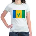 Saint Vincent and the Grenadi Jr. Ringer T-Shirt