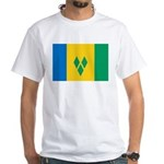 Saint Vincent and the Grenadi White T-Shirt