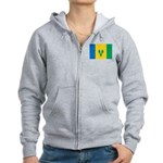 Saint Vincent and the Grenadi Women's Zip Hoodie