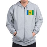 Saint Vincent and the Grenadi Zip Hoodie