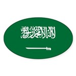 Saudi Arabia Sticker (Oval 10 pk)