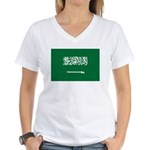 Saudi Arabia Women's V-Neck T-Shirt