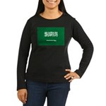 Saudi Arabia Women's Long Sleeve Dark T-Shirt
