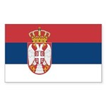 Serbia Sticker (Rectangle 50 pk)