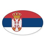 Serbia Sticker (Oval 50 pk)